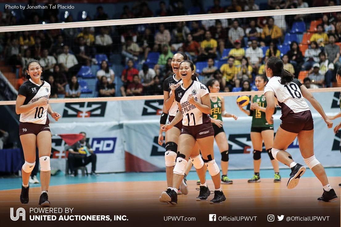 Uaap 81 Up Asserts Dominance Against Feu Remains Spotless Up Women S Volleyball Team